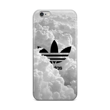 Adidas Logo Inside Of Beautiful Fluffy White Big Clouds iPhone 4 4s 5 5s 5C 6 6s 6 Plu