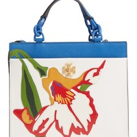 Tory Burch Small Kira Floral Leather Tote | Nordstrom