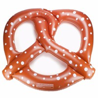 Inflatable 140CM Pretzel Swimming Pool Float Bed