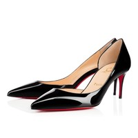 Best Online Sale Christian Louboutin Cl Iriza Black Patent Leather 70mm Stiletto Heel Classic