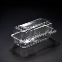 8 x 4 x 3  Plastic Clear Hinged Containers/Set of 250