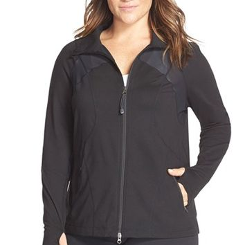 Plus Size Women's Zella 'Neo Future' Front Zip Jacket,