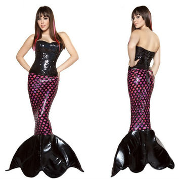 mermaid tail for adult women Halloween party costumes Mermaid Cosplay For Fairy Tale Role Palying Uniforms Masquerade