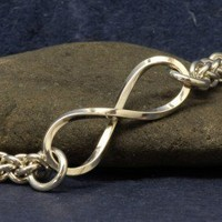 Bracelet Sterling Silver Infinity Eternity Chainmail | noeljewelry - Jewelry on ArtFire