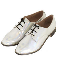 MILLA Silver Lace Up Shoes - New In This Week  - New In