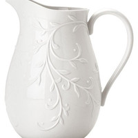 Lenox Dinnerware, Opal Innocence Carved Pitcher - Bar & Wine Accessories - Dining & Entertaining - Macy's
