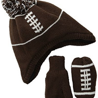 The Children's Place Baby-Boys Infant Football Set, Dark Hazelnut, X-Small/6-12 Months