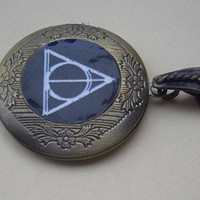 harry potter Deathly Hallows LOCKET by sweethearteverybody on Etsy