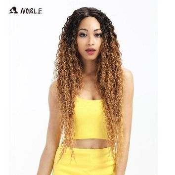ESBG8W Noble Hair Lace Front Wig 30 Inch Long Wave Dark Root Synthetic Wigs For Black Women 2 Colors Available Free Shipping