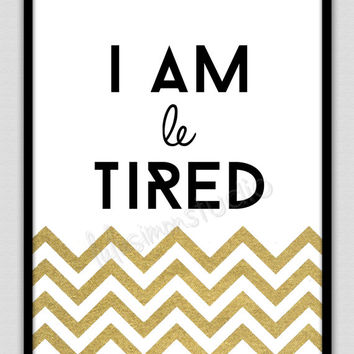 Wall Decor Print - Modern Home Decor - Bedroom Decor - Bedroom Art - Home Decor - Wall Art - Bedroom Print - Wall Prints - Gold Chevron