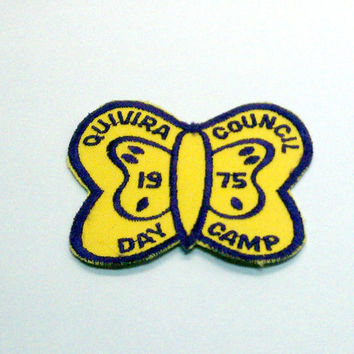 1975 GIrl Scout Butterfly Patch by VintageWoods on Etsy