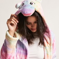 Fleece Unicorn Rainbow Robe