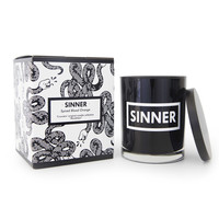 "Spiced Blood Orange ""Sinner"" Hand Poured Soy Candle"