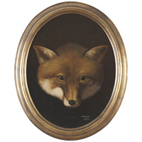 Gold Oval Framed Foxhead
