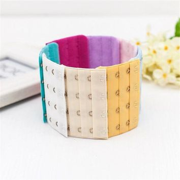 2 Pcs Women Bra Strap Extender 3 Rows 4 Hooks Bra Extenders Clasp Strap Sewing Tools Intimates Accessories Hot Selling