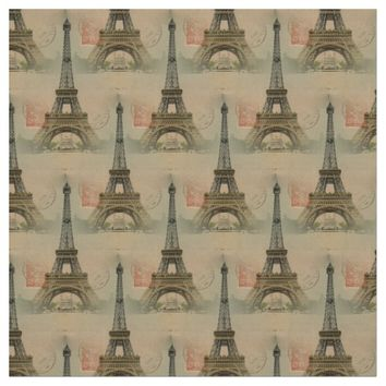 Eiffel Tower Postcard Fabric