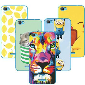Fruit Painting Cat Lion Minions Phone Cases For Alcatel Pixi 4Plus Power Case Cover For Alcatel Pixi 4 Plus Power 5023E 5023F
