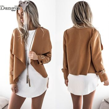 Europe and America autumn and winter new style  turn-down collar Tweed jacket upper outer garment women's wear