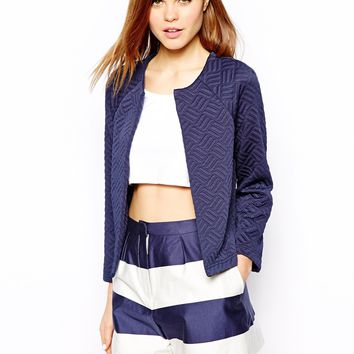 Warehouse Quilted Crop Jacket