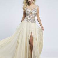 Beaded Chiffon Prom Dress 91076 - Prom Dresses