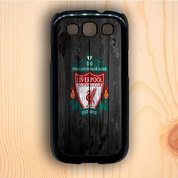 Dream colorful Liverpool FC Wood Style Samsung Galaxy S3 Case