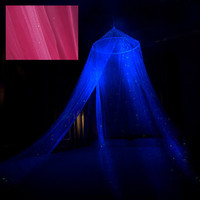 Glow in the Dark Pink Star Canopy  surround your by StellaMurals