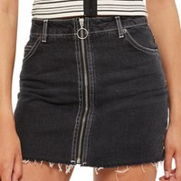 Topshop Zip Denim Skirt | Nordstrom