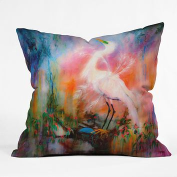 Ginette Fine Art Egret Dreams Throw Pillow