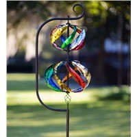Double Helix Metal Wind Spinner