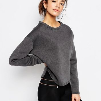 New Look Scuba Oversized Sweatshirt