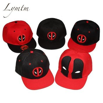 Trendy Winter Jacket [Lymtm] Unisex Cotton Outdoor Anime Comic Marvel Deadpool Snapback Summer Hip Hop Embroidery Cap Hat Baseball Cap For Men Women AT_92_12