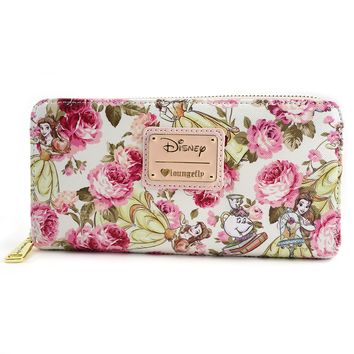 Loungefly x The Beauty and the Beast Character Floral Print Wallet - Disney - Brands