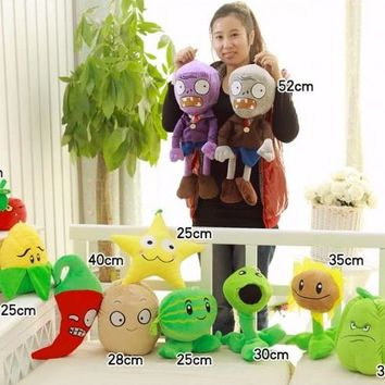 Super simulation large Plants Zombies plush toy dolls stuffed soft toy -25~52cm