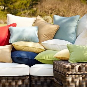 Solid Outdoor Pillow | Pottery Barn