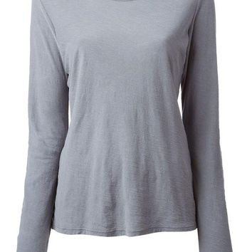DCCKIN3 James Perse long sleeve slub knit T-shirt