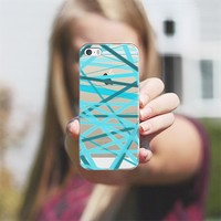 Ocean Jumble Lines - Transparent/Clear Background iPhone 5s case by Lisa Argyropoulos | Casetagram