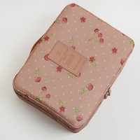 Neceser Rushed Floral Nylon Zipper New Women Makeup bag Cosmetic bag