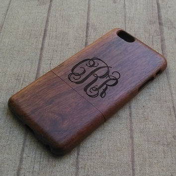 Personalized monogramed iPhone case, iphone6,iphone 6plus, iphone5,iphone4,iphone 5c available, wood case,Engraved wooden iphone case