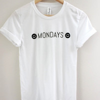 Mondays White Graphic Unisex Tee