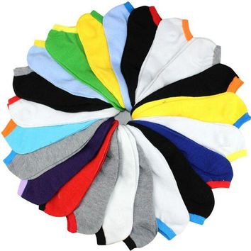 ac NOOW2 spring summer men fashion candy color boat socks male ankle socks man sock slippers 20pcs=10pairs/lot
