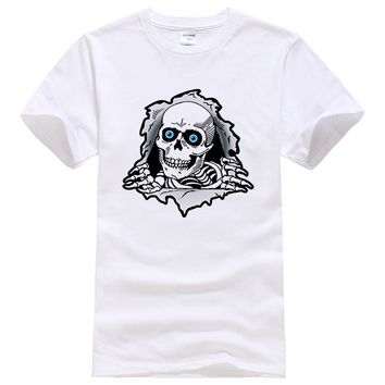 100% Cotton 3D Skulls T Shirt hip hop