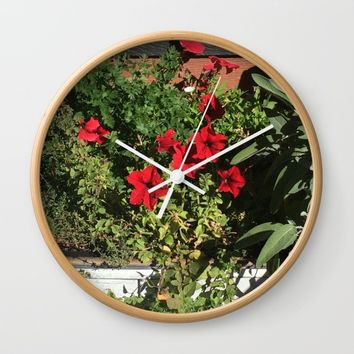 Something in Red Wall Clock by Jessica Ivy