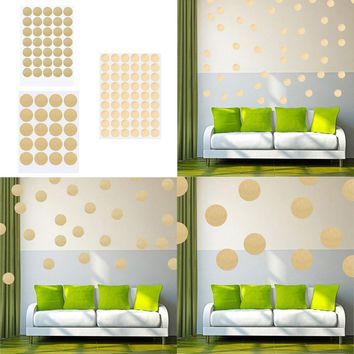 Gold Polka Dots Wall Sticker Baby Nursery Stickers Kids Golden Polka Dots Children Wall Decals Home Decor DIY Vinyl Wall Art