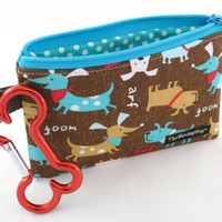 Dog Clean-Up Pouch - 'A Dog's Bark' - With Clip to Attach to Your Leash & Free Earth Friendly Poop Bags