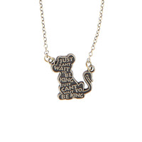 Disney The Lion King Simba Quote Necklace