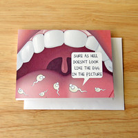 Naughty Card, Dirty Card, Girlfriend Gift, Sperm Card, Oral Sex, Card For Wife, Card For BFF, Gag Gift, Birthday Card, Adult Humor, Sexual