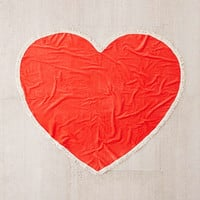 Oversized Tassel Trim Heart Towel - Urban Outfitters
