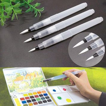 Painting Brush Pilot Ink Pen for Water Brush Watercolor Calligraphy Painting Tool Set 3 Size