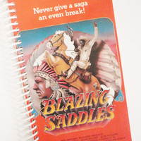 BLAZING SADDLES VHS Spiral Notebook Paper Journal Upcycled Recycled Earth Friendly
