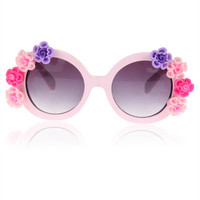 Women's Cute Lovely Summer Style Hot Fashion Fimo Flower Sunglasses = 4672246596